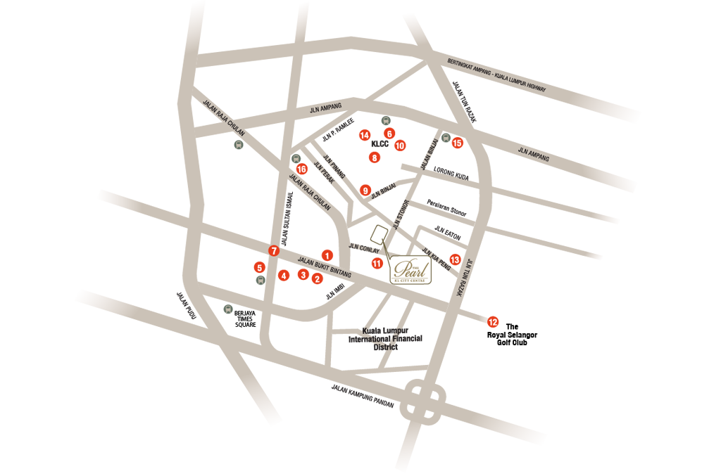 Location Surrounding The Pearl KL City Centre